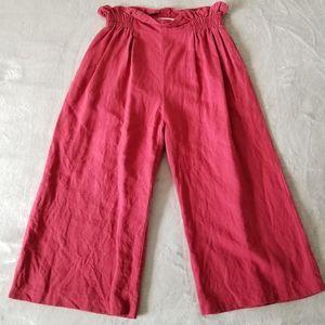 SUNCOO Paris Linen Cropped Pant